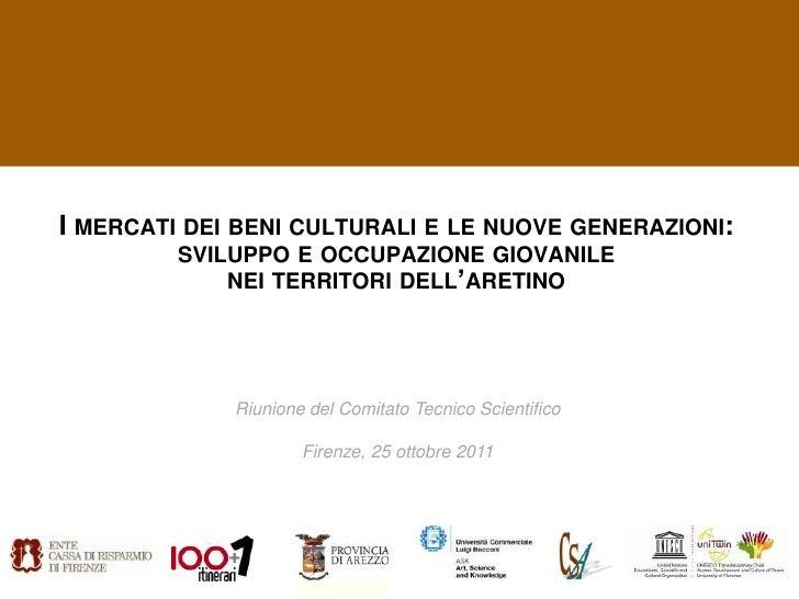 I mercati dei beni culturali e le nuove generazioni: Riunione del Comitato Tecnico Scientifico