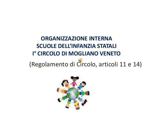 ORGANIZZAZIONE INTERNA   SCUOLE DELL'INFANZIA STATALI I° CIRCOLO DI MOGLIANO VENETO(Regolamento di Circolo, articoli 11 e ...