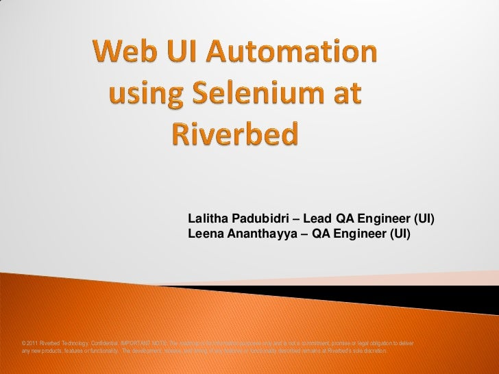Lalitha Padubidri – Lead QA Engineer (UI)                                                                      Leena Anant...
