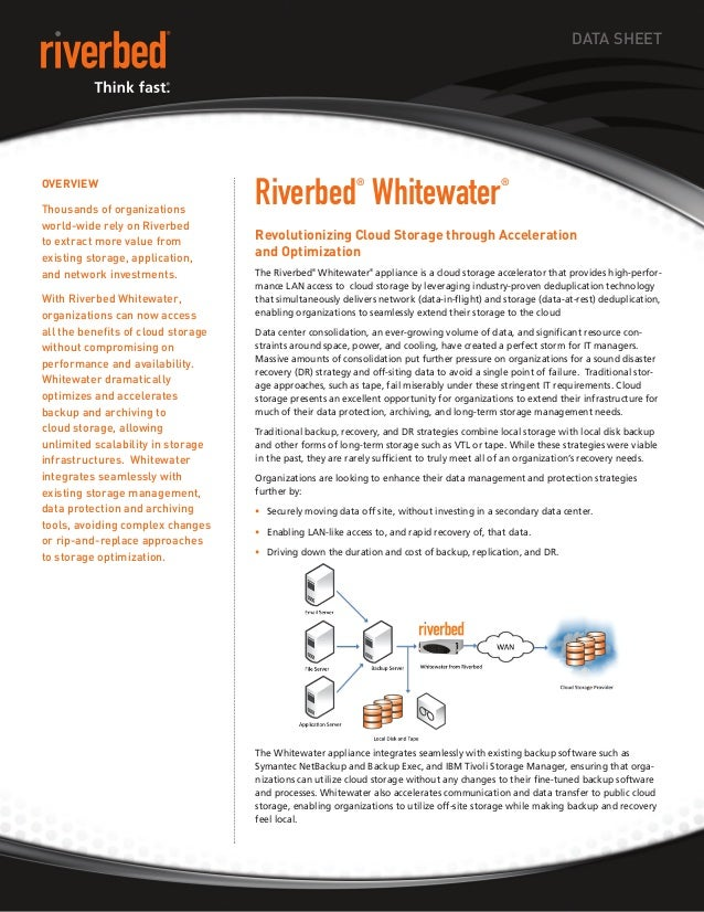 DATA SHEET                                         Riverbed Whitewater OveRvieW                                           ...