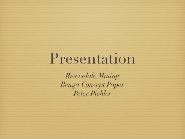 Riversdale presentation Peter Pichler