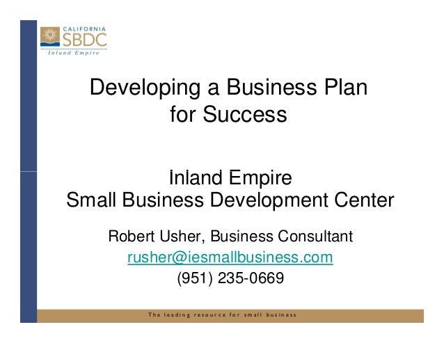 "IESBDC ""Designing a Business Plan for Success"""