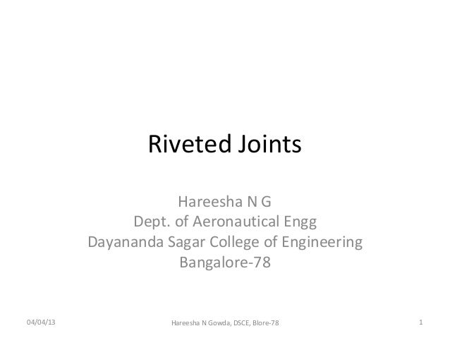 Riveted joints
