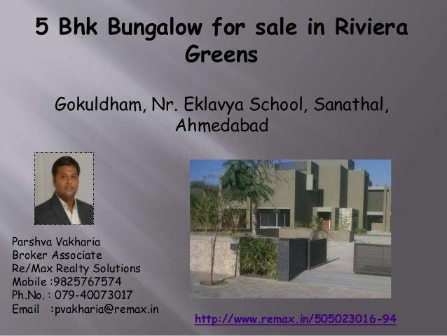 5 Bhk Bungalow for sale in Riviera Greens Gokuldham, Nr. Eklavya School, Sanathal, Ahmedabad  Parshva Vakharia Broker Asso...
