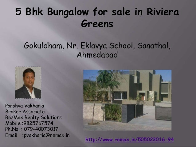 5 Bhk Bungalow for Sale or Rent in Rivera Greens, Gokuldham, Sanathal,