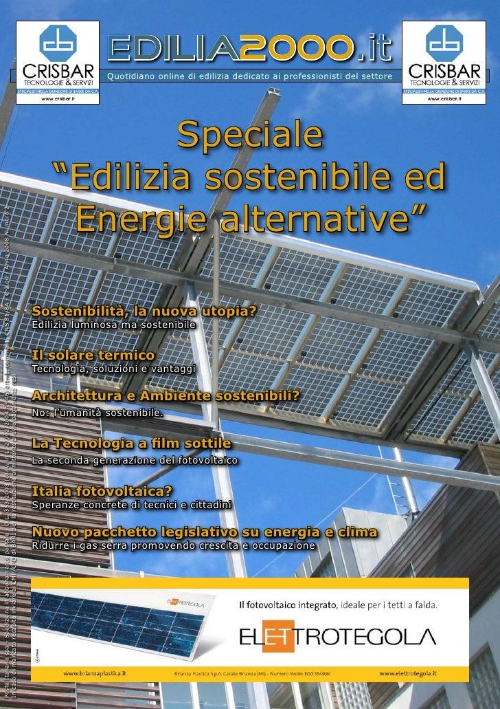 Edilizia Sostenibile ed Energie alternative