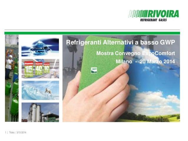 Rivoira   refrigeranti alternativi a basso gwp