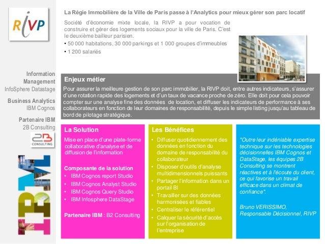 La Régie Immobilière de la Ville de Paris passe à l'Analytics pour mieux gérer son parc locatif Société d'économie mixte l...