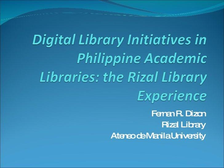 Fernan R. Dizon Rizal Library Ateneo de Manila University