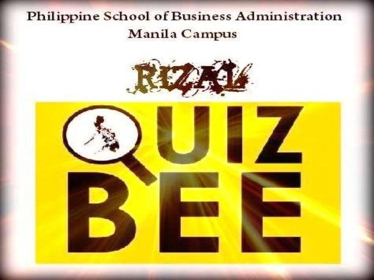 Rizal quiz bee average