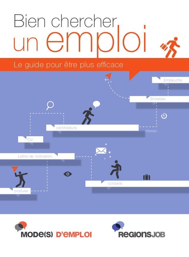 Bien chercher  un emploi Le guide pour être plus efficace Embauche  Entretien  candidature  réseau  CV  Lettre de motivatio...