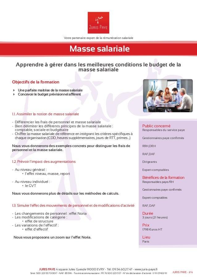 Votre partenaire expert de la rémunération salariale  Masse salariale  Apprendre à gérer dans les meilleures conditions le...