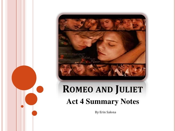 Romeo and Juliet<br />Act 4 Summary Notes<br />By Erin Salona<br />