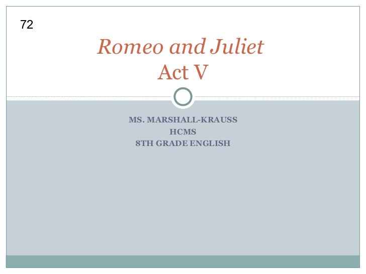 Romeo and Juliet Act 5 Scenes 1-2 Class Work
