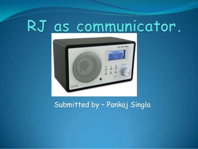 Rj as communicator