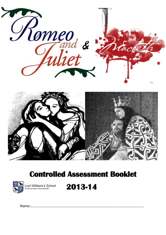 Romeo and Juliet & Macbeth Study booklet 2013