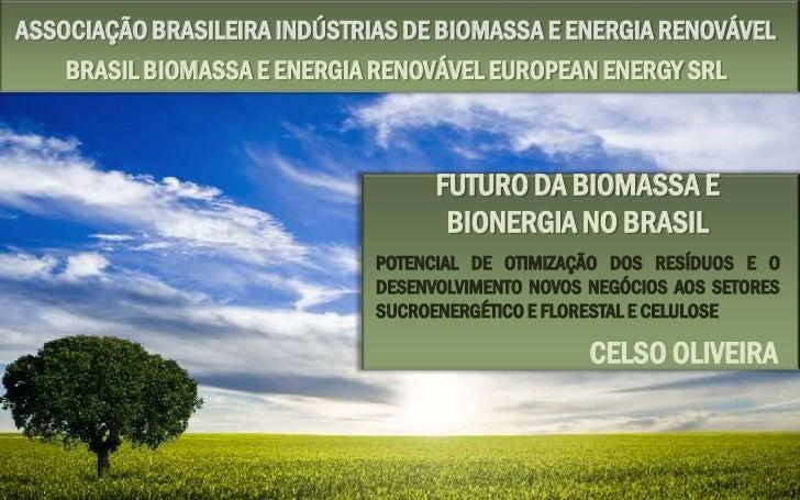 ASSOCIAÇÃO BRASILEIRA INDÚSTRIAS DE BIOMASSA E ENERGIA RENOVÁVEL    BRASIL BIOMASSA E ENERGIA RENOVÁVEL EUROPEAN ENERGY SR...