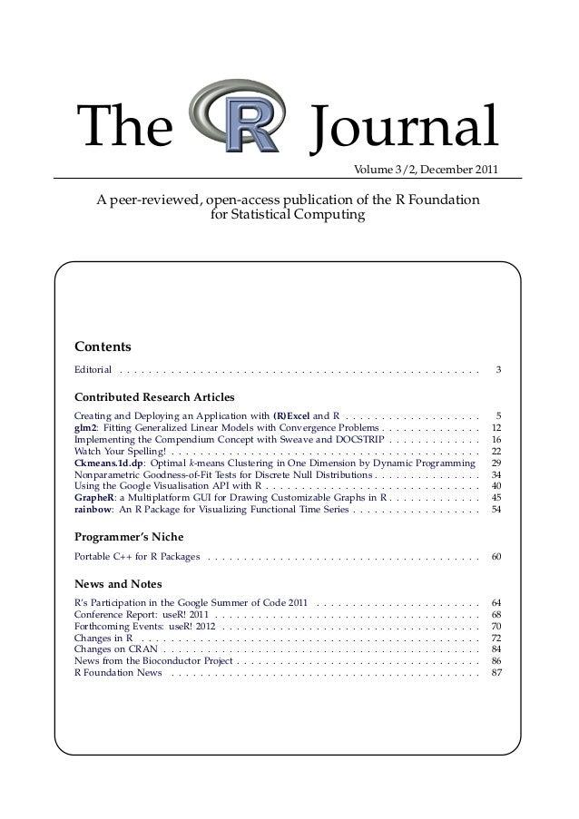 R journal 2011-2