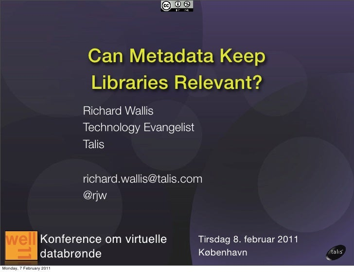 Can Metadata Keep Libraries Relevant?