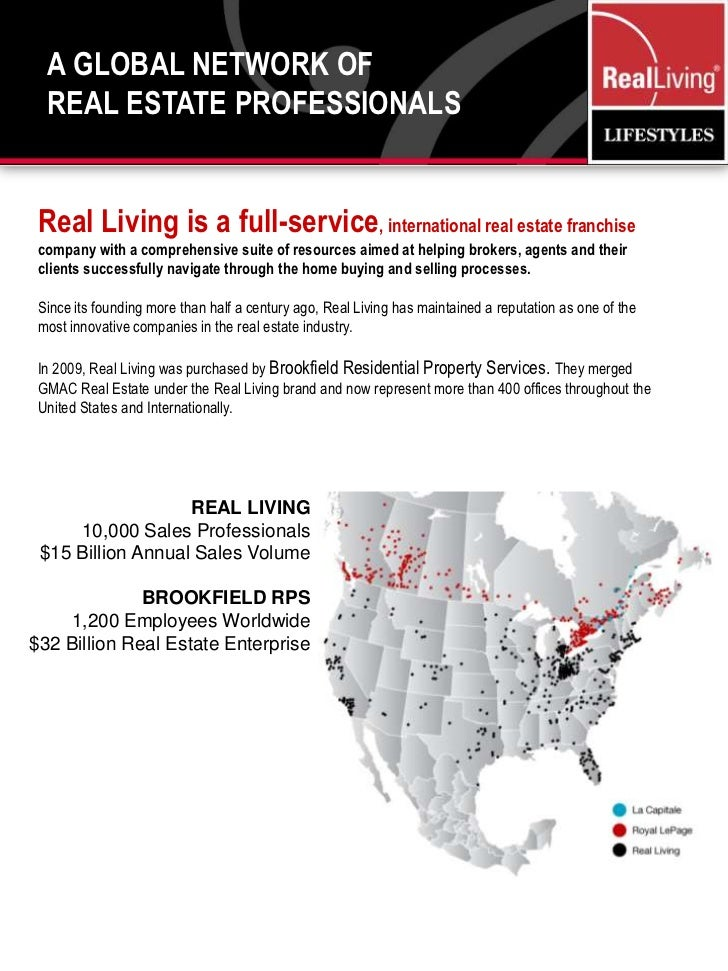 A Global Network of <br />Real Estate Professionals<br />Real Living is a full-service, international real estate franchis...