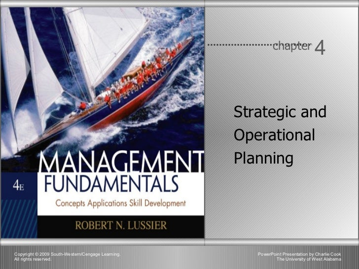 Chapter 4 - Strategic and Operational Planning