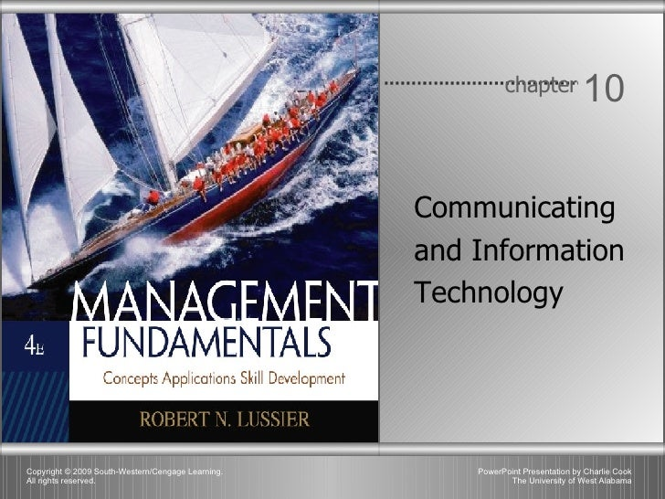 Chapter 10 - Communicating and Informatiion Technology