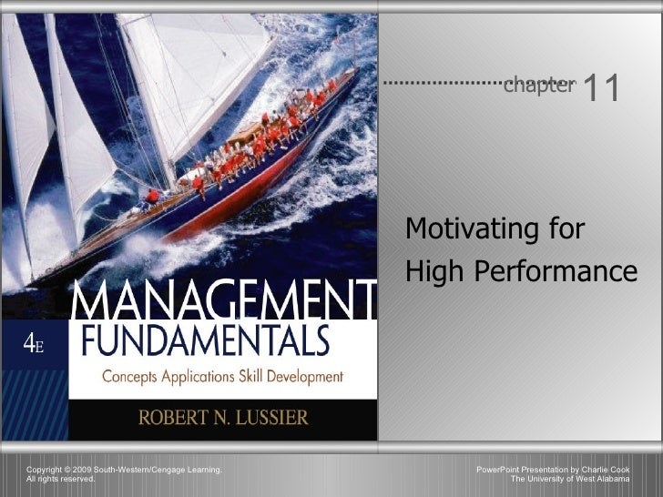 Chapter 11 - Motivating for High Performance
