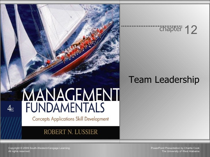Chapter 12 - Team Leadership