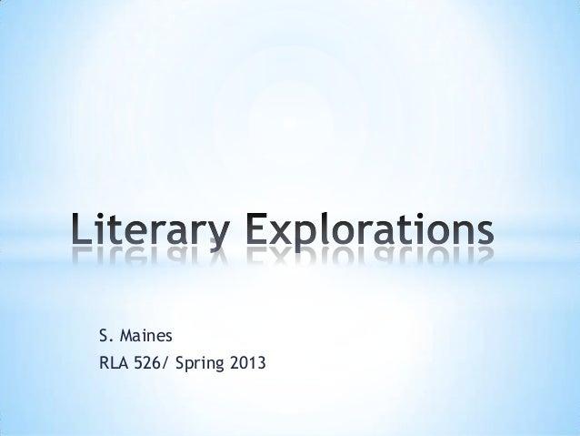 Rla 526 maines literary explorations