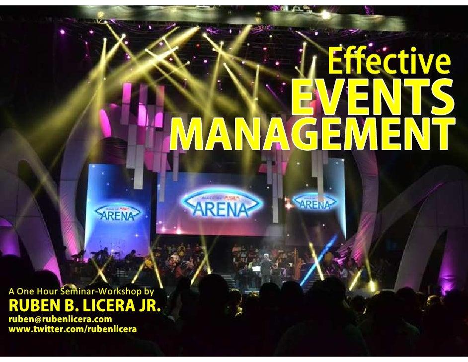 Effective Events Management for Non Profit (NGO)