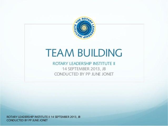 Rli ii   team building