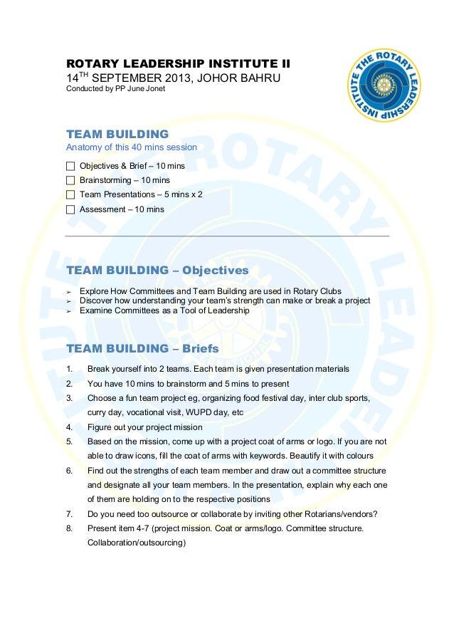 Rli team building assessment JJ