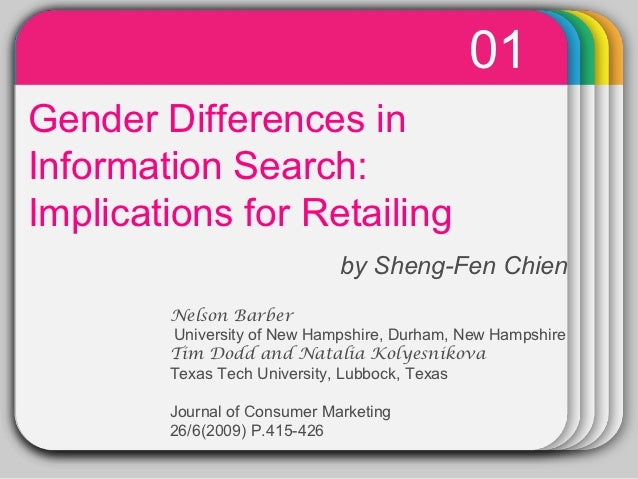 01           WINTERGender Differences in                 TemplateInformation Search:Implications for Retailing            ...
