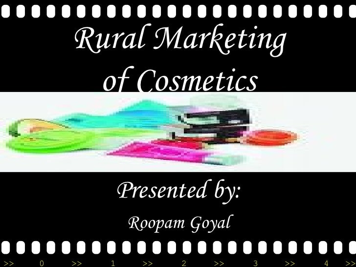 Rural Marketing of Cosmetics Presented by: Roopam Goyal