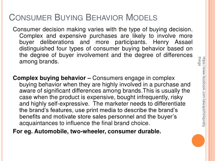 thesis advertising on consumer buying behaviour Consumer behavior: how people make buying that's what the study of consumer behavior is all about the companies that pay for search advertising.