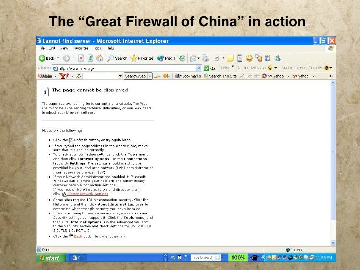 """The """"Great Firewall of China"""" in action"""