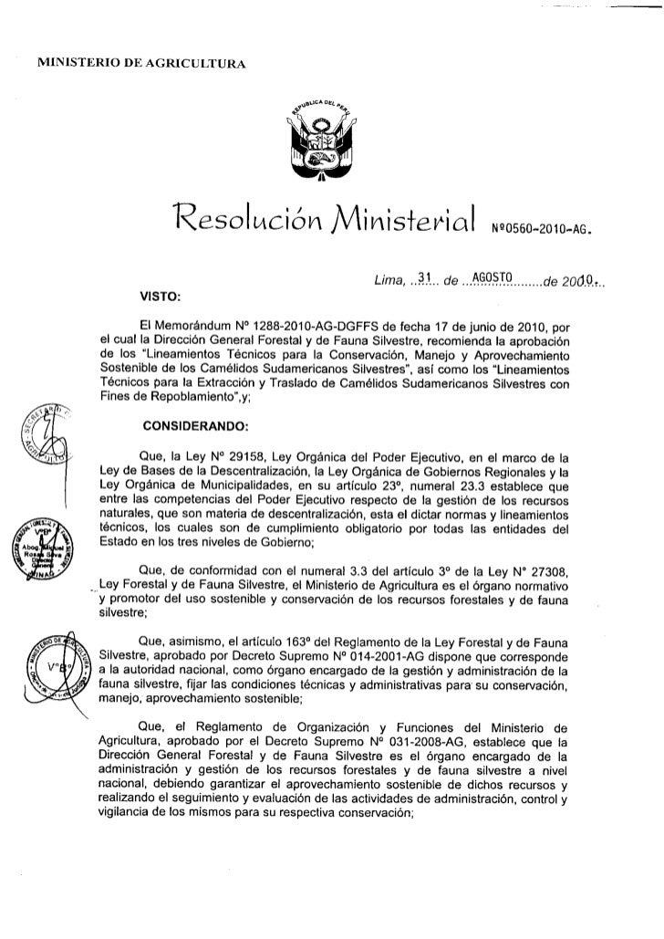 MINISTERIO DE AGRICULTURA                                                              ,                    Resolkción    ...