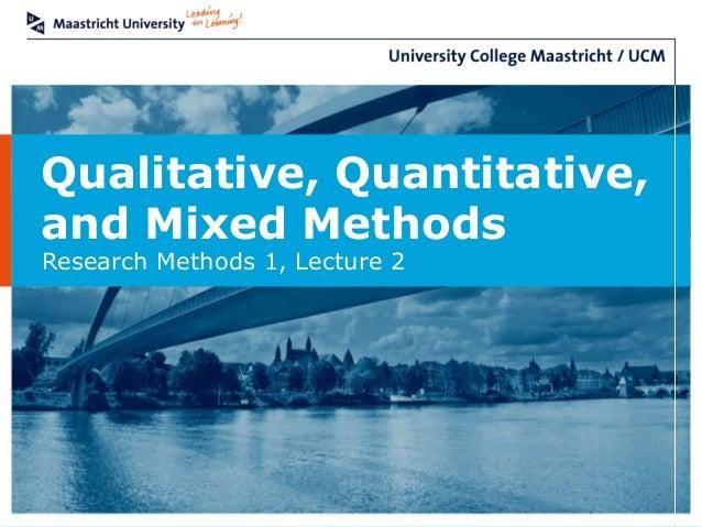 Research methodology quantitative and qualitative methods