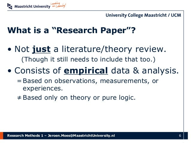 quantitative research methods papers Step'by-step guide to critiquing research part 1: quantitative research michaei coughian, patricia cronin, frances ryan  critiquing is a systematic method of.