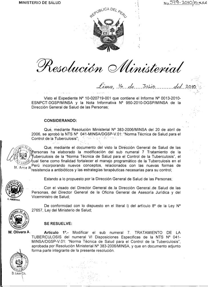 MINISTERIO DE SALUD                                                              ,           . !6, . .&.. ...SY?,~Q..........