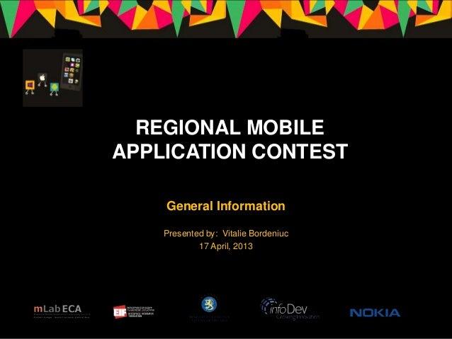 Regional Mobile Application Contest