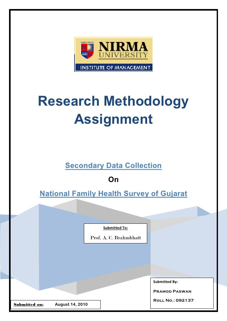 Research Methodology               Assignment                       Secondary Data Collection                             ...