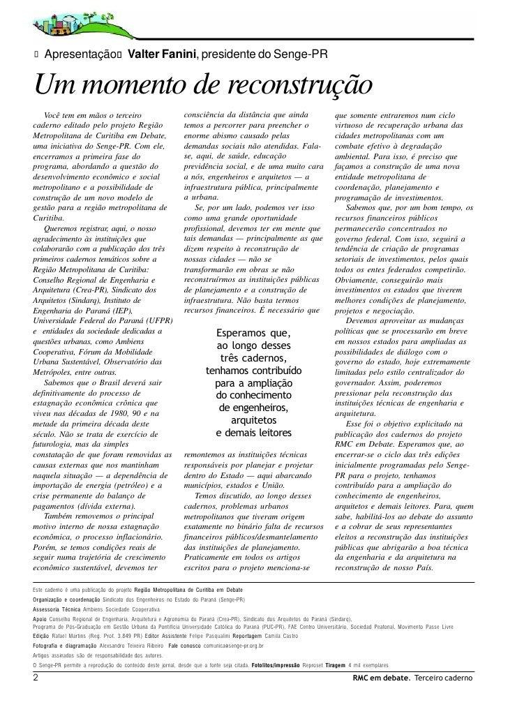 3.° caderno RMC em Debate - Alexsandro Teixeira Ribeiro