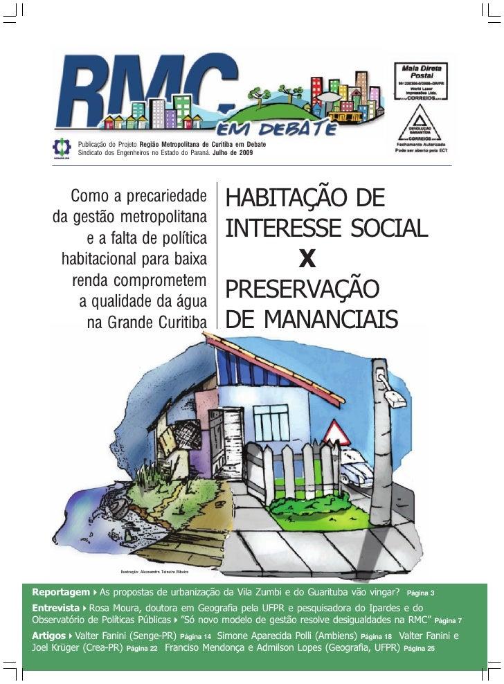 Publicação do Projeto Região Metropolitana de Curitiba em Debate           Sindicato dos Engenheiros no Estado do Paraná. ...