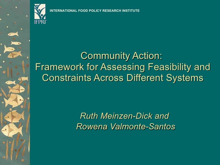 Community Action:  Framework for Assessing Feasibility and Constraints Across Different Systems Ruth Meinzen-Dick and  Row...