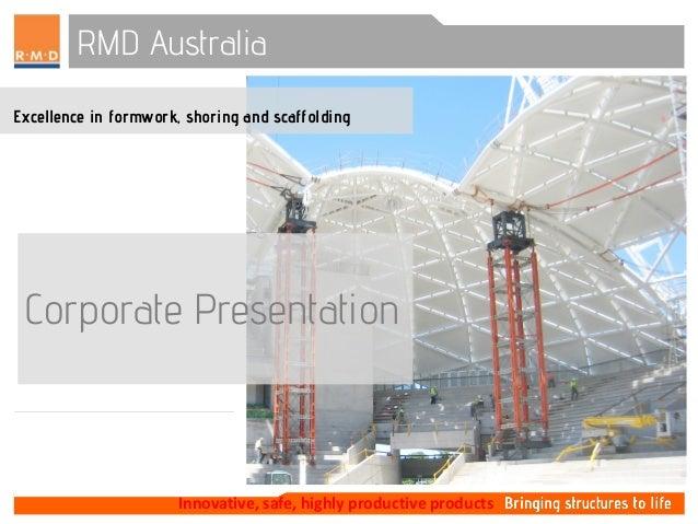 Rmd Australia corporate presentation