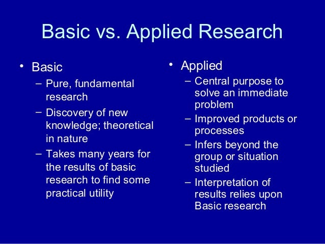 applied vs fundamental research