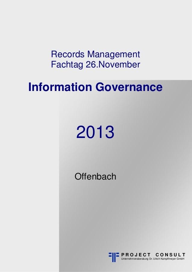 [DE] Dokumentation des 7. Records Management Fachtag 2013