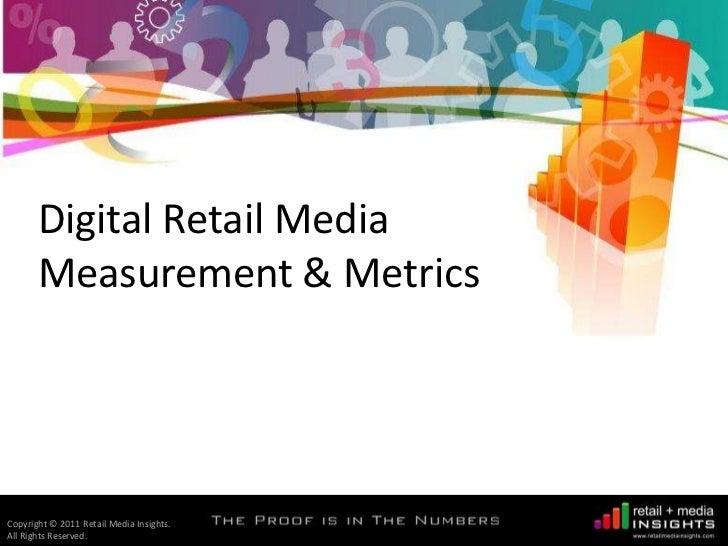 Retail Media Insights - Digital Retail Media Measurement & Metrics