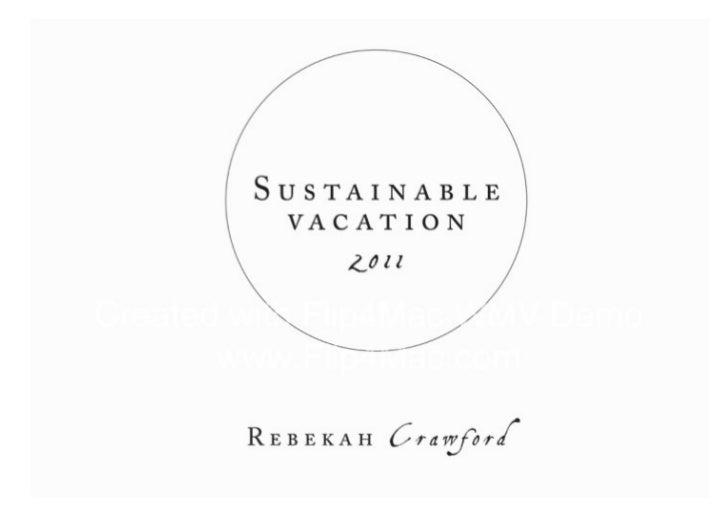Rmit sustainable vacation 1